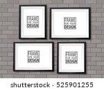 frames gallery on grey brick... | Shutterstock .eps vector #525901255