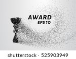 the award of the particles....   Shutterstock .eps vector #525903949