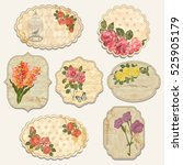 set of vintage floral label. | Shutterstock .eps vector #525905179