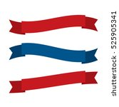 fourth of july ribbons  shields ... | Shutterstock .eps vector #525905341
