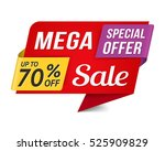 special offer mega sale banner  ... | Shutterstock .eps vector #525909829