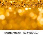 golden glitter texture... | Shutterstock . vector #525909967