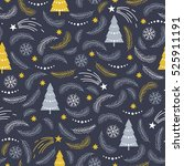 seamless christmas pattern with ... | Shutterstock .eps vector #525911191