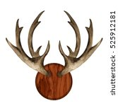 watercolor antlers  wooden... | Shutterstock . vector #525912181