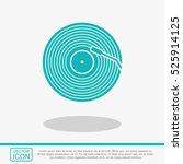vinyl record vector icon. | Shutterstock .eps vector #525914125