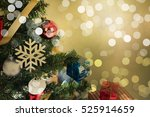 christmas decorative with gift... | Shutterstock . vector #525914659