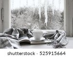 cozy winter still life  cup of... | Shutterstock . vector #525915664