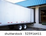 white long semi trailer with an ... | Shutterstock . vector #525916411