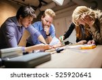 team working on project... | Shutterstock . vector #525920641