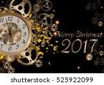 merry christmas 2017... | Shutterstock .eps vector #525922099