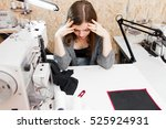 seamstress realized she made... | Shutterstock . vector #525924931