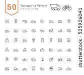 transport   vehicle icon set.... | Shutterstock .eps vector #525926041