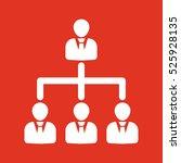 the management and teamwork... | Shutterstock . vector #525928135