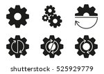 gears  cogs or sprocket set.... | Shutterstock .eps vector #525929779