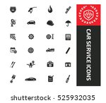 car service icons clean vector | Shutterstock .eps vector #525932035