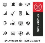 strategy icons clean vector | Shutterstock .eps vector #525932095