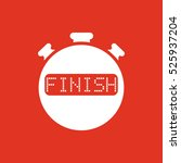 the finish stopwatch icon....