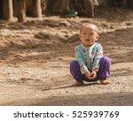 Small photo of CHIANGMAI THAILAND - 17 NOVEMBER : Unidentified tribal kids were running around having fun on 17 November 2016 at Mon jam Chiangmai, Thailand