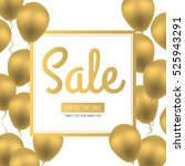 sale flyer. golden luxury... | Shutterstock .eps vector #525943291