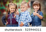 portrait of happy fashion... | Shutterstock . vector #525944311