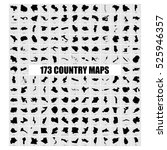 set of 173 country maps with... | Shutterstock .eps vector #525946357