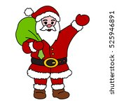 santa claus on white background.... | Shutterstock .eps vector #525946891