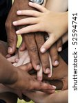 a series of various hands... | Shutterstock . vector #52594741