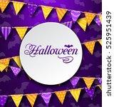 illustration halloween greeting ... | Shutterstock . vector #525951439