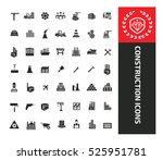 construction icons design clean ... | Shutterstock .eps vector #525951781