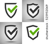 shield with a checkmark.... | Shutterstock .eps vector #525952069