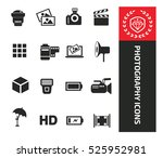 photography icons design clean ... | Shutterstock .eps vector #525952981