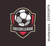 soccer logo  american logo... | Shutterstock .eps vector #525953974