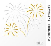 firework background  can be use ... | Shutterstock .eps vector #525961369