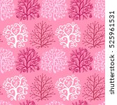 seamless pattern with cute... | Shutterstock .eps vector #525961531