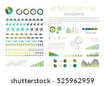 military infographic elements... | Shutterstock .eps vector #525962959