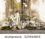 Urban Grungy Street Wall With...
