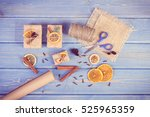 vintage photo  accessories ... | Shutterstock . vector #525965359