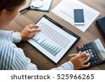 business analysis   calculator  ... | Shutterstock . vector #525966265