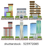 different designs of buildings... | Shutterstock .eps vector #525972085