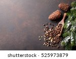 Pine Nuts On Stone Table. Top...
