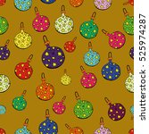 joyful colorful seamless... | Shutterstock .eps vector #525974287