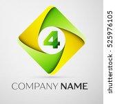 number four vector logo symbol...   Shutterstock .eps vector #525976105