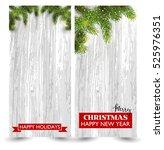christmas design with fir tree... | Shutterstock .eps vector #525976351
