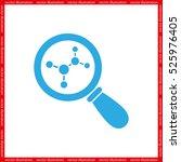 magnifier  molecule icon vector   Shutterstock .eps vector #525976405