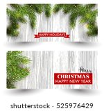 christmas design with fir tree... | Shutterstock .eps vector #525976429