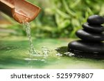 beautiful spa composition with... | Shutterstock . vector #525979807