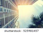 apartment building   vintage... | Shutterstock . vector #525981457