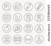 education thin line icon set | Shutterstock .eps vector #525984469