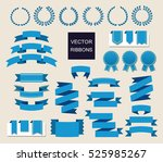 vector collection of decorative ... | Shutterstock .eps vector #525985267