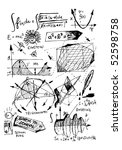 mathematics hand draw symbols